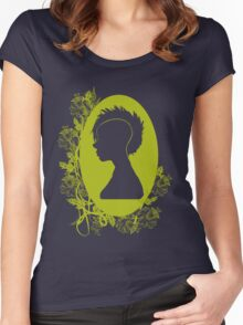 Vintage Punk Cameo Yellow Women's Fitted Scoop T-Shirt