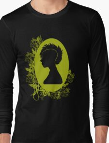 Vintage Punk Cameo Yellow Long Sleeve T-Shirt