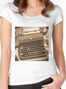 Royal Typewriter Women's Fitted Scoop T-Shirt