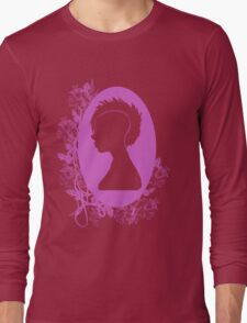 Vintage Punk Cameo Lavander Long Sleeve T-Shirt