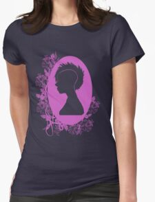 Vintage Punk Cameo Lavander Womens Fitted T-Shirt