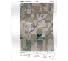USGS Topo Map Washington State WA Hartline 20110425 TM Poster