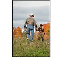 Fall Moments on Grandpa's Farm Photographic Print