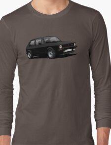 VW Golf GTI MK1 illustration black Long Sleeve T-Shirt