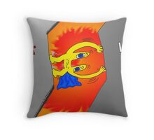 Euroman feels the squeeze cartoon Throw Pillow