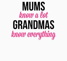 Grandmas Know Everything Quote 2 Womens Fitted T-Shirt