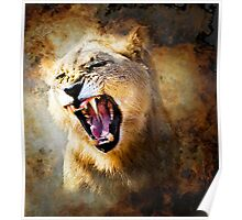 FIRE IN HIS SPIRIT (lion) Poster