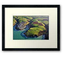 Port Isaac from 2000 feet Framed Print