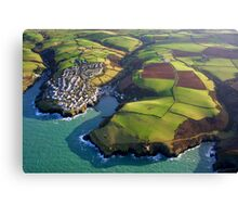 Port Isaac from 2000 feet Canvas Print