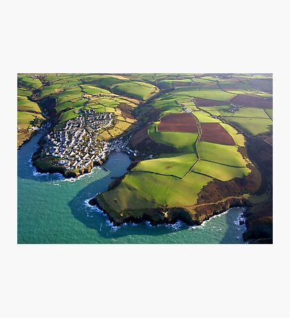 Port Isaac from 2000 feet Photographic Print