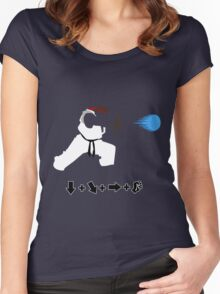 Vector Hadoken  Women's Fitted Scoop T-Shirt