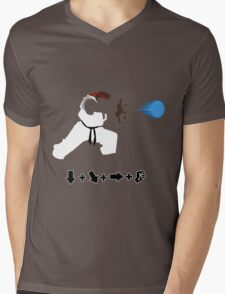 Vector Hadoken  Mens V-Neck T-Shirt
