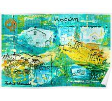 Koroni, Greece Collage Poster