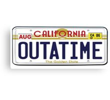 BTTF OUTATIME Canvas Print