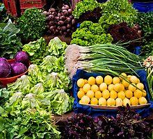 Fresh Organic Vegetables At A Street Market  by Kuzeytac