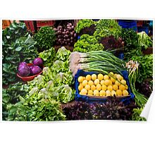 Fresh Organic Vegetables At A Street Market  Poster