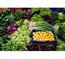 Fresh Organic Vegetables At A Street Market  Photographic Print