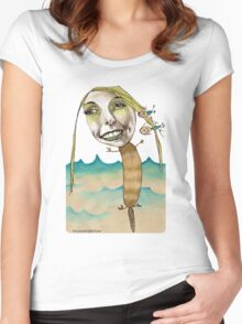 Platypus with People Hairclips Women's Fitted Scoop T-Shirt