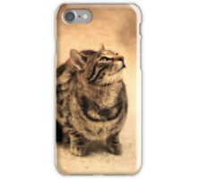 Kitty Portrait (Sepia) iPhone Case/Skin