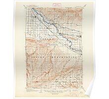 USGS Topo Map Washington State WA Zillah 244847 1910 125000 Poster