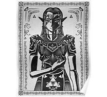 Legend of Zelda Princess Geek Art Poster