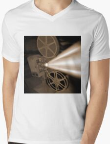 Movie Projector Mens V-Neck T-Shirt