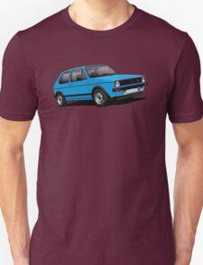 Volkswagen Golf GTI Mk1 illustration blue T-Shirt