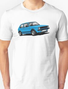 Volkswagen Golf GTI Mk1 illustration blue T-Shirt