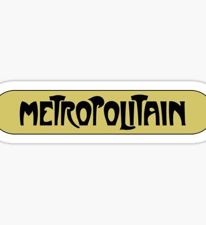 Metropolitain, Subway Sign, Paris, France Sticker