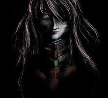 Asuka Evangelion Anime Tra Digital Painting  by barrettbiggers