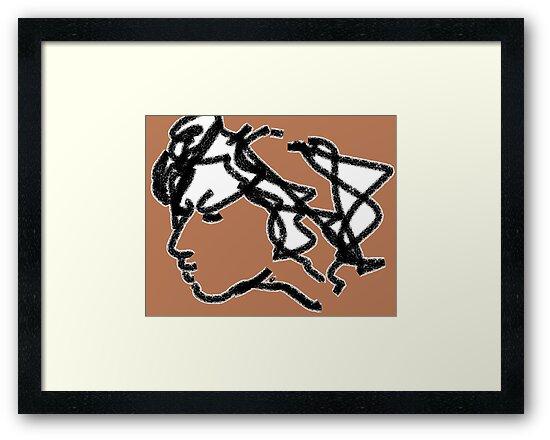 female head -(101012)- ms paint/digital artwork by paulramnora