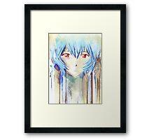 Ayanami Rei Evangelion Anime Tra Digital Painting  Framed Print
