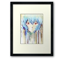 Ayanami Rei Evangelion Anime Tra Digital Painting  Framed Print