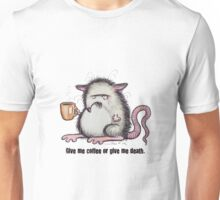 Rat in need of coffee Unisex T-Shirt