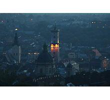 Dusk over Lviv Photographic Print