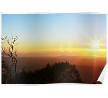 Sunrise at Mt Warning Poster