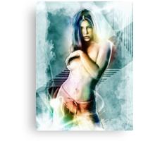 Jessica Biel Celebrity Tra Digital Painting  Canvas Print