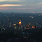 Sunset over Lviv - wide pano by Oleksii Rybakov
