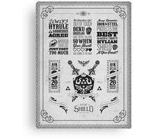 Legend of Zelda Hylian Shield Geek Line Artly Canvas Print