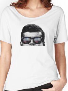 JFK Pop-Art t-shirt (black & White) Women's Relaxed Fit T-Shirt