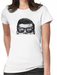 JFK Pop-Art t-shirt (black & White) Womens Fitted T-Shirt