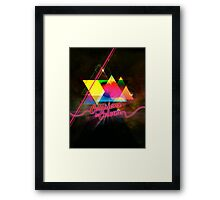 Collissions in Color Art Poster Framed Print