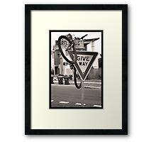 Stray Bike Framed Print