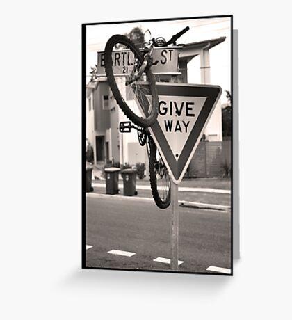 Stray Bike Greeting Card