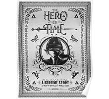 Legend of Zelda Link Hero of Time Geek Line Artly Poster