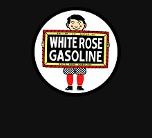 White Rose Gasoline. Boy with slate vintage sign. Clean version Unisex T-Shirt