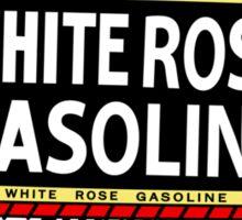 White Rose Gasoline. Boy with slate vintage sign. Clean version Sticker