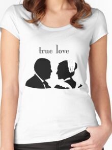 Anna and Bates true love Women's Fitted Scoop T-Shirt