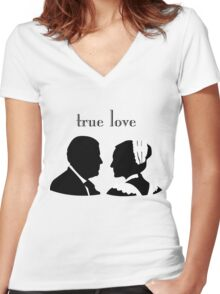 Anna and Bates true love Women's Fitted V-Neck T-Shirt