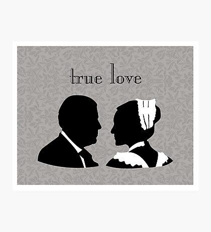 Anna and Bates true love Photographic Print